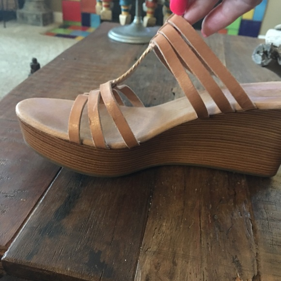 UGG Shoes - Ugg wedge sandals, used Size 10